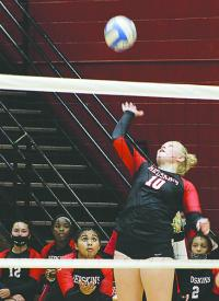 Lady Redskins knock off Red Demons Thursday in four sets