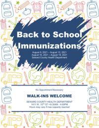 Health Dept. offering back-to-school immunizations