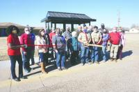 Davis completes bus stop shelter as Eagle Scout project
